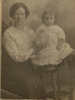Isobella Matthews and daughter Annie